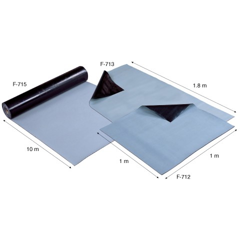 HZ F713 ESD RUBBER MATS (GREY)