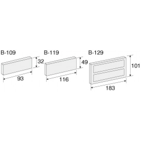 HZ B119 DIVIDERS FOR B118 DRAWERS